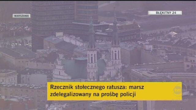 Marsz Niepodległości został zdelgalizowany - podał warszawski ratusz/TVN24