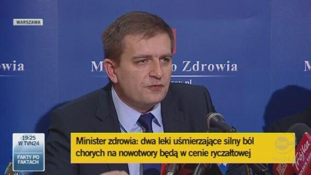 Minister o lekach przeciwbólowych dla chorych na raka (TVN24)