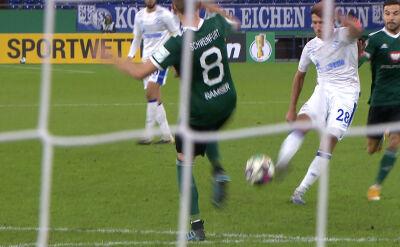Puchar Niemiec. Schweinfurt - Schalke 1:3. Gol Alessandro Schoepf