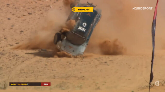 Niebezpieczny wypadek zespołu ABT CUPRA XE w 1. kwalifikacji do X Prix w Arabii Saudyjskiej