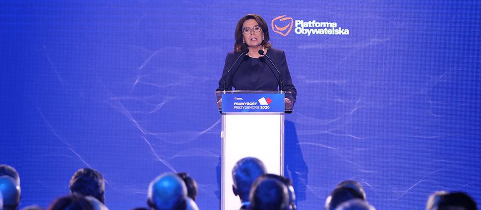 Małgorzata Kidawa-Błońska kandydatką  PO na prezydenta