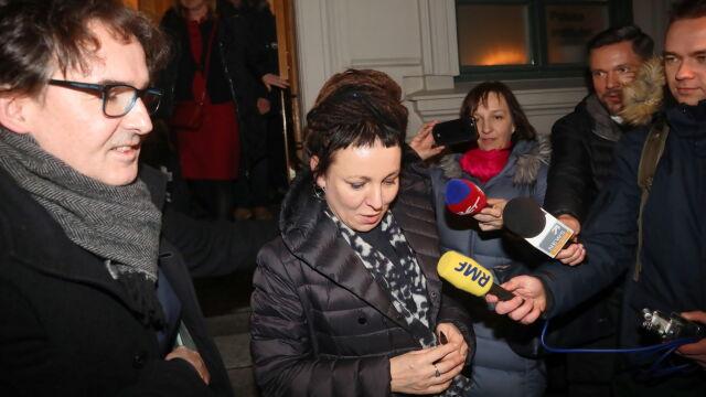 Tokarczuk spotkała się z tłumaczami jej książek.
