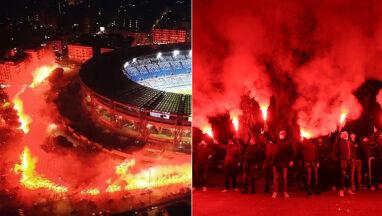 Niezwykły pokaz przed stadionem. Kibice oddali hołd Maradonie