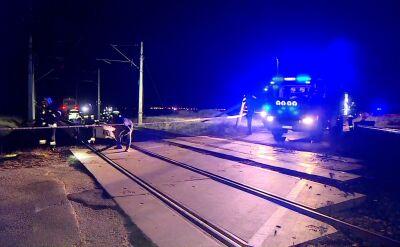 Zderzenie samochodu osobowego z pociągiem pod Poznaniem