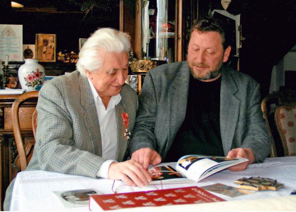 Zbyszko z synem Maciejem