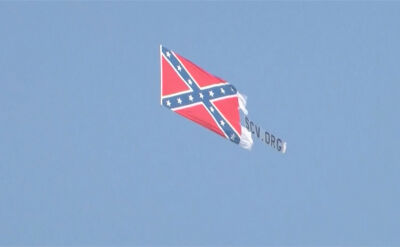 Flaga Skonfederowanych Stanów Ameryki pojawiła się przed zawodami NASCAR