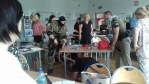Shots, fear and fainting. Shocking anti-terror training in Pabianice school