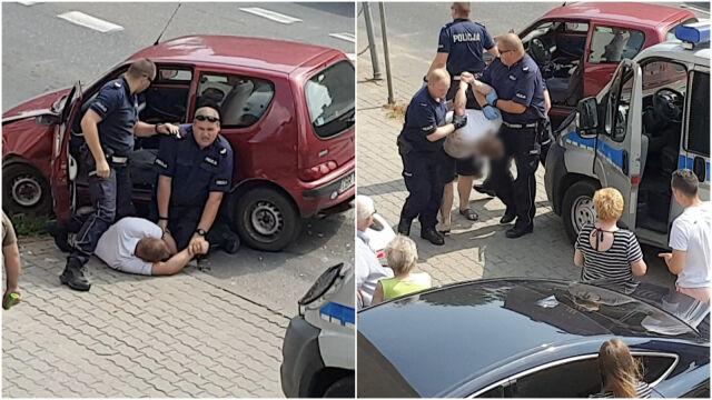 """Uciekał przed policją, zniszczył samochód.  """"Po 2 godzinach miał jeszcze 1,5 promila"""""""