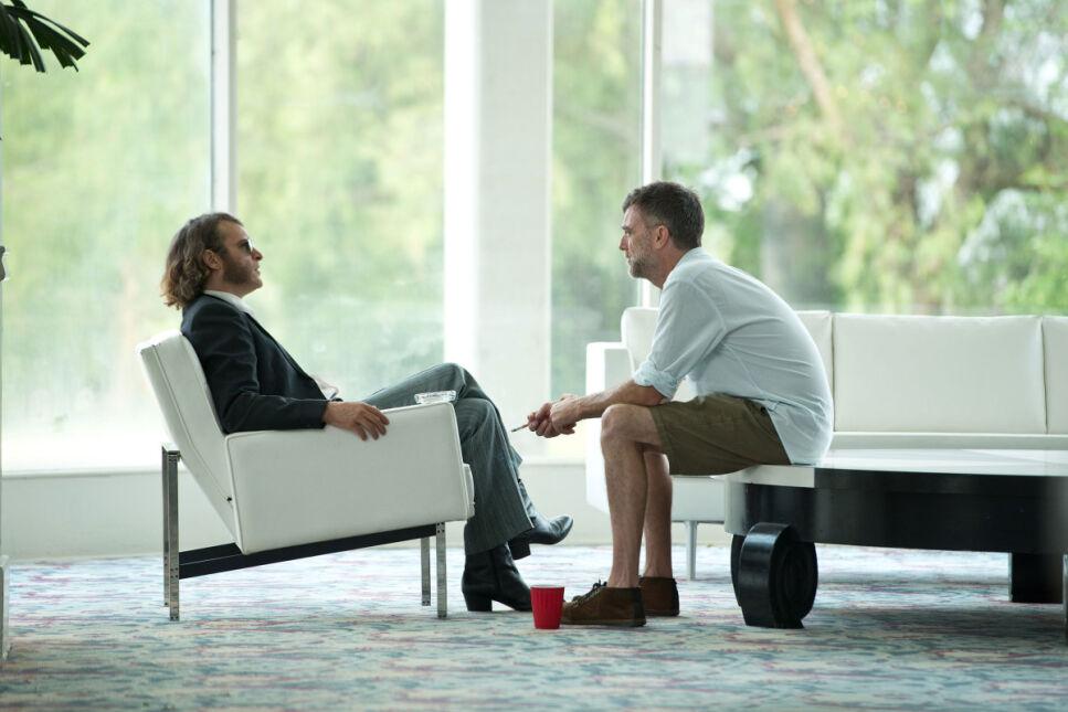 "Joaquin Phoenix i Paul Thomas Anderson na planie filmu ""Wada ukryta"""