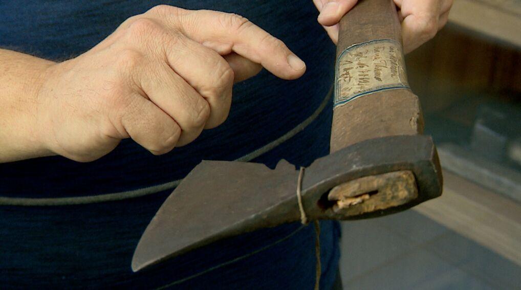 Siekiera, którą Franz Tham zabijał swoje ofiary