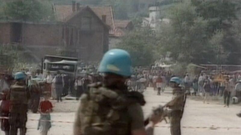 Srebrenica. Baza i tereny wokół bazy Potoczari