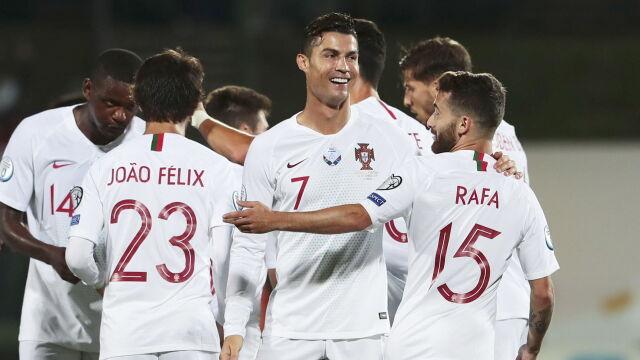Ronaldo strzelał gola za golem. Sam zdemolował Litwę i śrubuje rekord