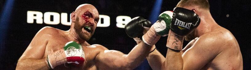 Zakrwawiony, nie widział na prawe oko.  Tyson Fury i tak pozostaje niepokonany