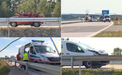 Wypadek na A1 niedaleko miejscowości Woźniki