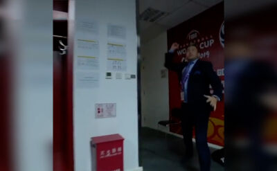 Prezes PZKosz odwiedziłszatnię po zwycięstwie z Chinami