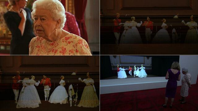 Hologramy tańczące walca. Królowa zobaczyła Pałac Buckingham z XIX wieku