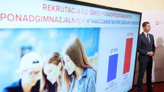Minister edukacji: może trzeba coś zmienić w ogóle w systemie rekrutacji