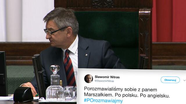 """Nazwa amerykańskiej ustawy i problemy marszałka Kuchcińskiego. """"Czytamy po polsku"""""""
