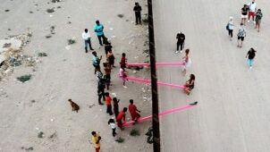 Granica zamieniła się w plac zabaw