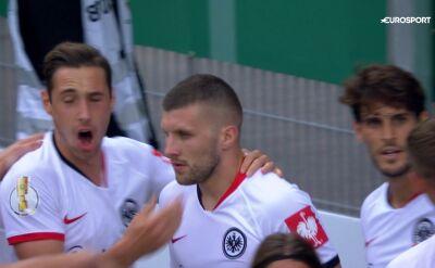 Skrót meczu Mannheim - Eintracht Frankfurt w pierwszej rundzie Pucharu Niemiec