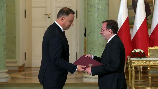 Prezydent Andrzej Duda powołał Mariusza Kamińskiego na szefa MSWiA