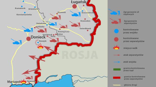 W Nowoazowsku są siły separatystów