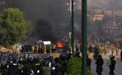 Starcia zwolenników Moralesa z policją i wojskiem