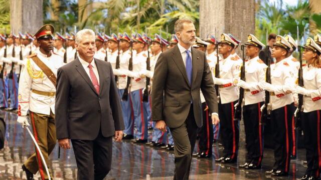 Król Hiszpanii w Hawanie.