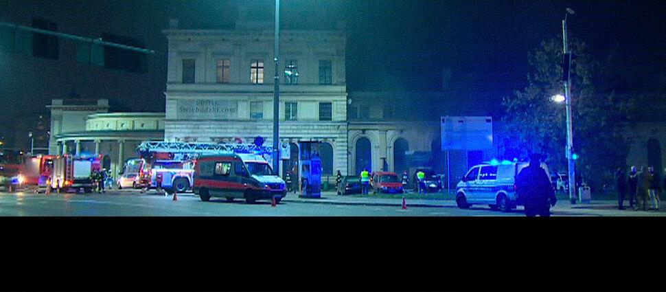 Pożar na Dworcu Świebodzkim we Wrocławiu. Kilka osób rannych