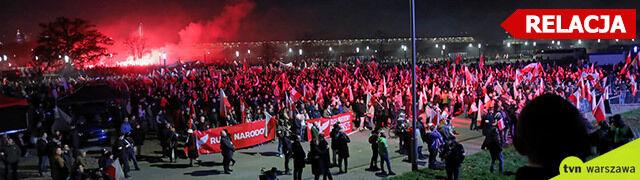 Stołeczna policja: dzięki wyprzedzeniowym działaniom marsz przebiegł bezpiecznie