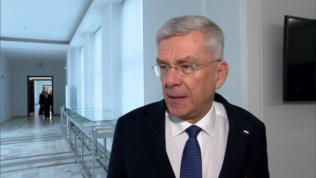 Karczewski o przeciąganiu senatorów.