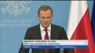Premier Donald Tusk o ACTA - cz.1