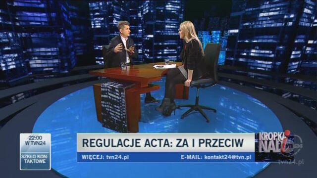 Palikot namawia do ataków na prywatne strony polityków (TVN24)
