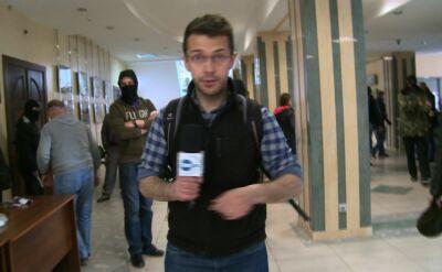 Reporter TVN24 wśród uzbrojonych separatystów