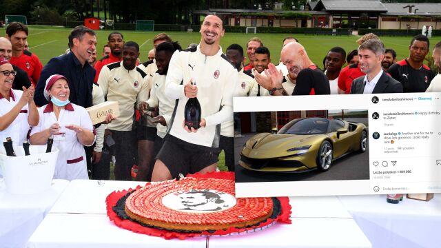 Ibrahimović kupił samochód za ponad dwa miliony złotych. Sam złożył sobie życzenia