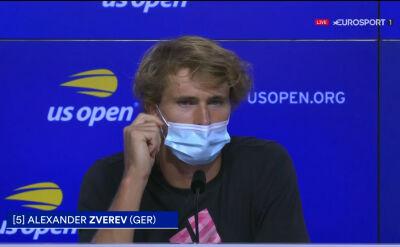 Alexander Zverev o dyskwalifikacji Djokovicia