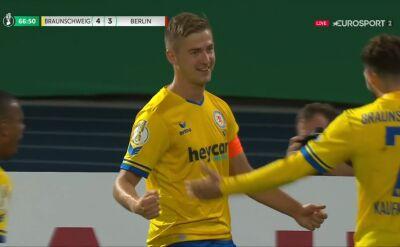 Puchar Niemiec. Eintracht Brunszwik - Hertha 4:3. Gol Martin Kobylański
