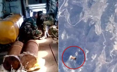 Armia zabija bombami beczkowymi. To nagranie jest dowodem