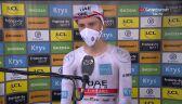 Pogacar po wygraniu 20. etapu Tour de France