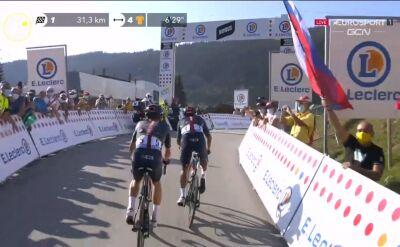 Carapaz wygrał ostatnią premię górską na 18. etapie Tour de France