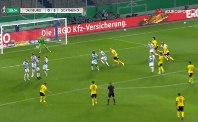 Puchar Niemiec. Duisburg - Borussia Dortmund 0:3. Gol Thorgan Hazard
