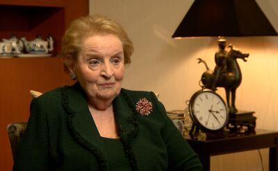 """Rozmowa Katarzyny Kolendy-Zaleskiej z Madeleine Albright (fragment filmu """"Strateg"""")"""