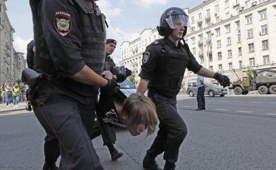 Aresztowania przed protestem opozycji w Moskwie