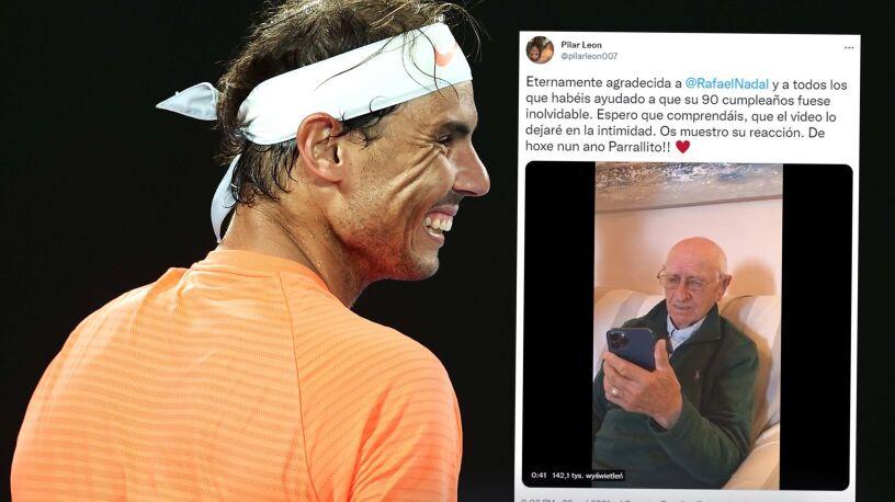 90-letni kibic wzruszony życzeniami od Rafaela Nadala