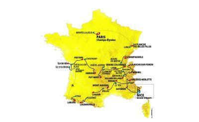 Profil 1. etapu Tour de France
