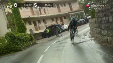 Chwile grozy na trasie Tour de France.