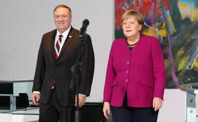 Angela Merkel spotkała się w Berlinie z Mikie'em Pompeo