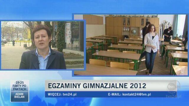 Mariola Konopka z CKE: Jest spokojnie (TVN24)