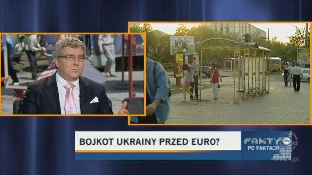 Czarnecki: Sprawa Julii Tymoszenko nie zachęca do odwiedzenia Ukrainy w czasie mistrzostw. (TVN24)
