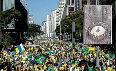 Manifestacja poparcia dla prezydenta Jaira Bolsonaro